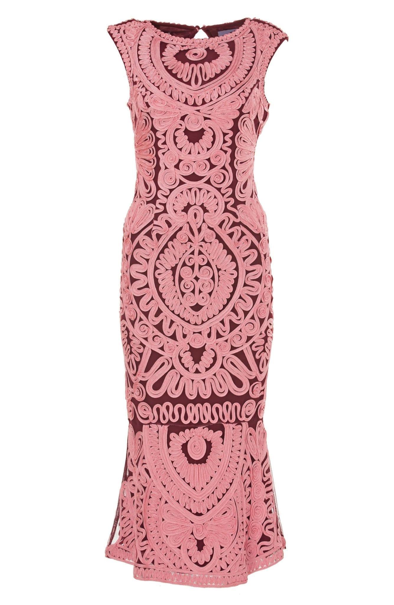 Js Collections Soutache Mesh Pink Dress We Select Dresses