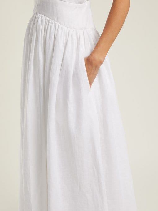 72731238f6a KALITA Persephone Linen Maxi White Dress - We Select Dresses
