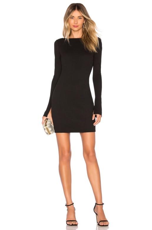 KATIE MAY Glisten Black Dress