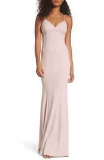 KATIE MAY Stretch Crepe Ballet Gown