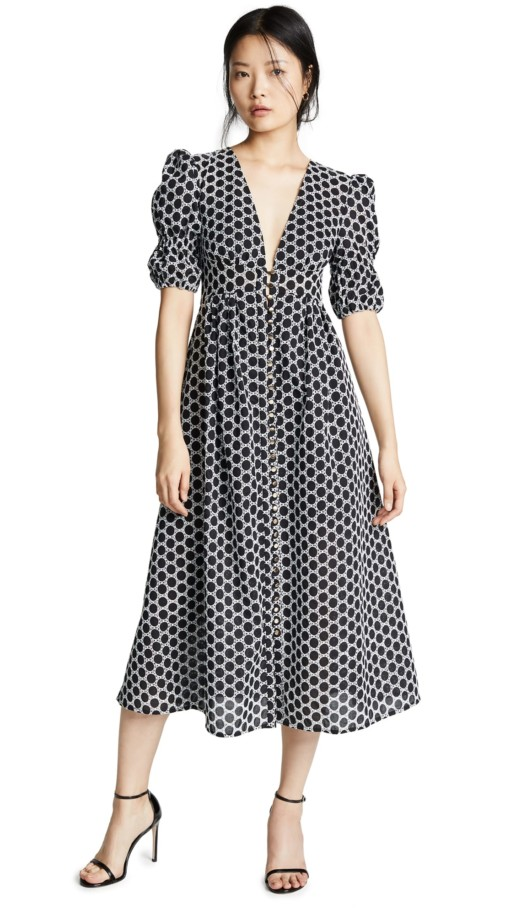 KEEPSAKE Belong Midi Black Dress