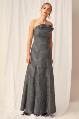 KEEPSAKE Eclipse Black Check Gown 2