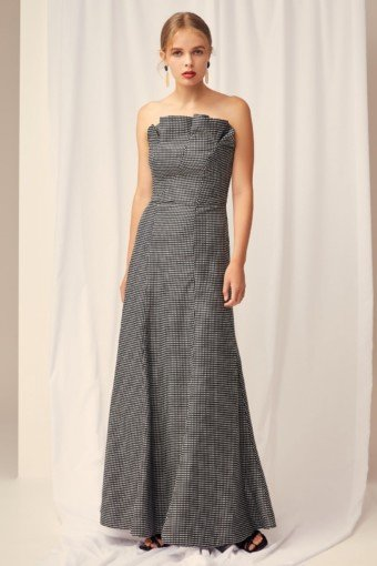 KEEPSAKE Eclipse Black Check Gown