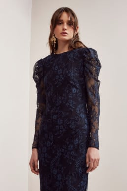 KEEPSAKE Hold On Lace Navy Gown 2