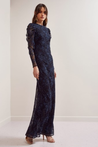 KEEPSAKE Hold On Lace Navy Gown 3