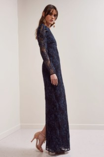 KEEPSAKE Hold On Lace Navy Gown 4