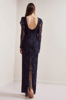 KEEPSAKE Hold On Lace Navy Gown 5