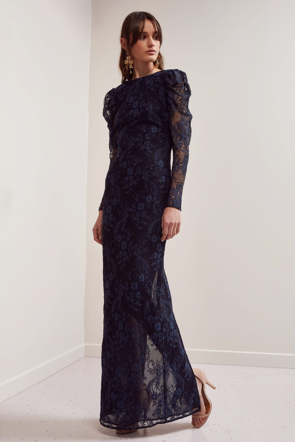 KEEPSAKE Hold On Lace Navy Gown