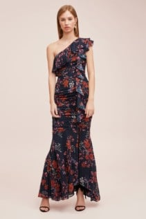 KEEPSAKE Need You Now Navy Floral Gown 4