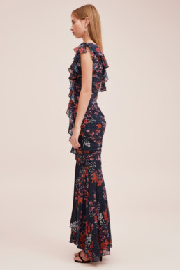 KEEPSAKE Need You Now Navy Floral Gown 5