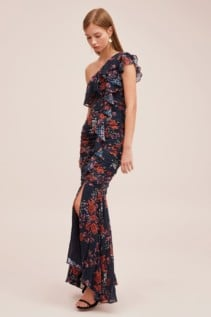 KEEPSAKE Need You Now Navy Floral Gown