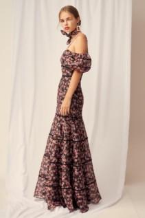 KEEPSAKE One Love Black Rose Floral Gown 6