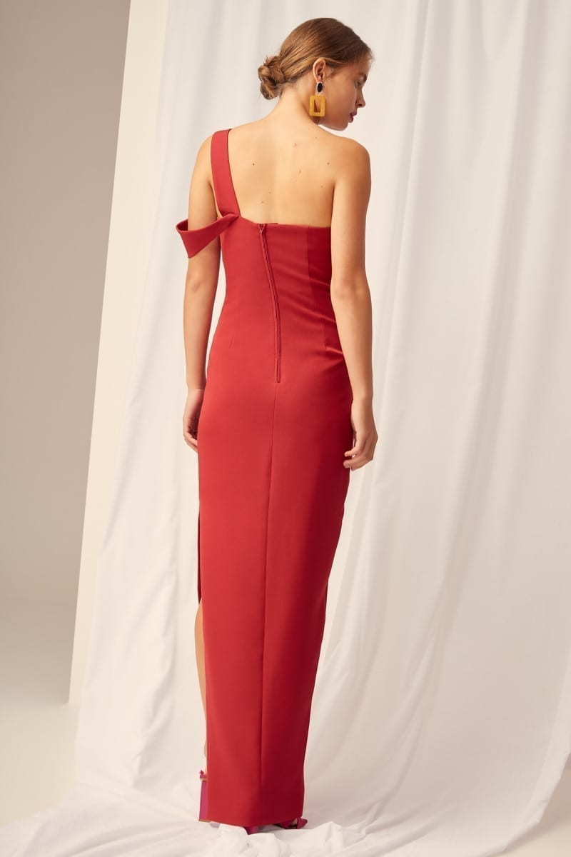 7c65c7533e9 KEEPSAKE Shooting Star Red Gown - We Select Dresses