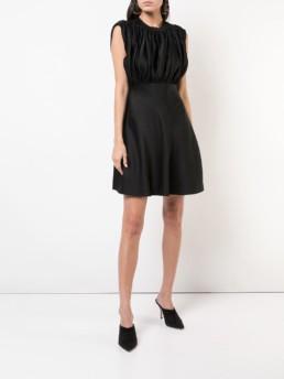 KHAITE Sleeveless Flared Black Dress