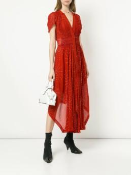 KITX Cinched Midi Red Dress
