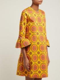 LA DOUBLEJ 24/7 Ruote Gialle-print Cotton-blend Yellow Dress 2