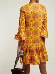 LA DOUBLEJ 24/7 Ruote Gialle-print Cotton-blend Yellow Dress 3