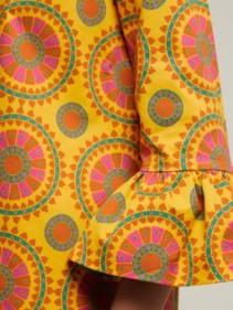 LA DOUBLEJ 24/7 Ruote Gialle-print Cotton-blend Yellow Dress 5