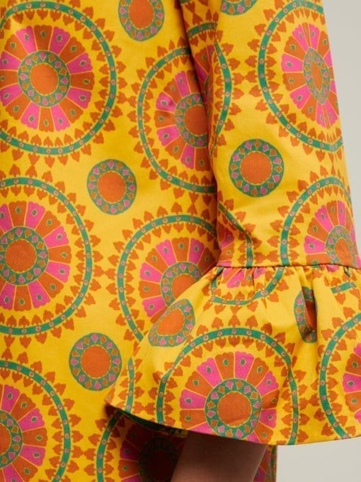 LA DOUBLEJ 24/7 Ruote Gialle-print Cotton-blend Yellow Dress 5