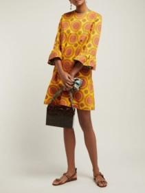 LA DOUBLEJ 24/7 Ruote Gialle-print Cotton-blend Yellow Dress
