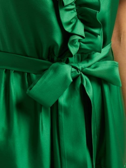 LA DOUBLEJ Long & Sassy Silk Green Dress 5