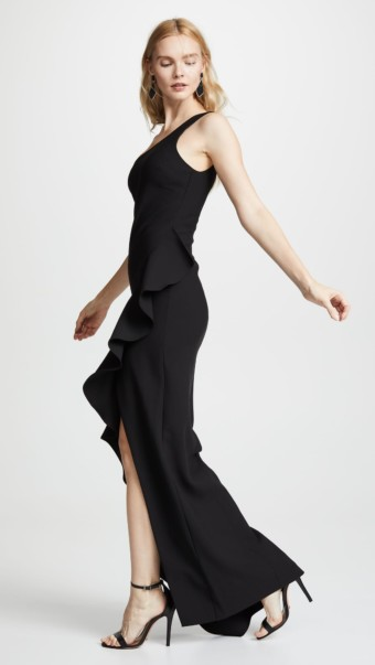 LIKELY Marielle Black Gown 3