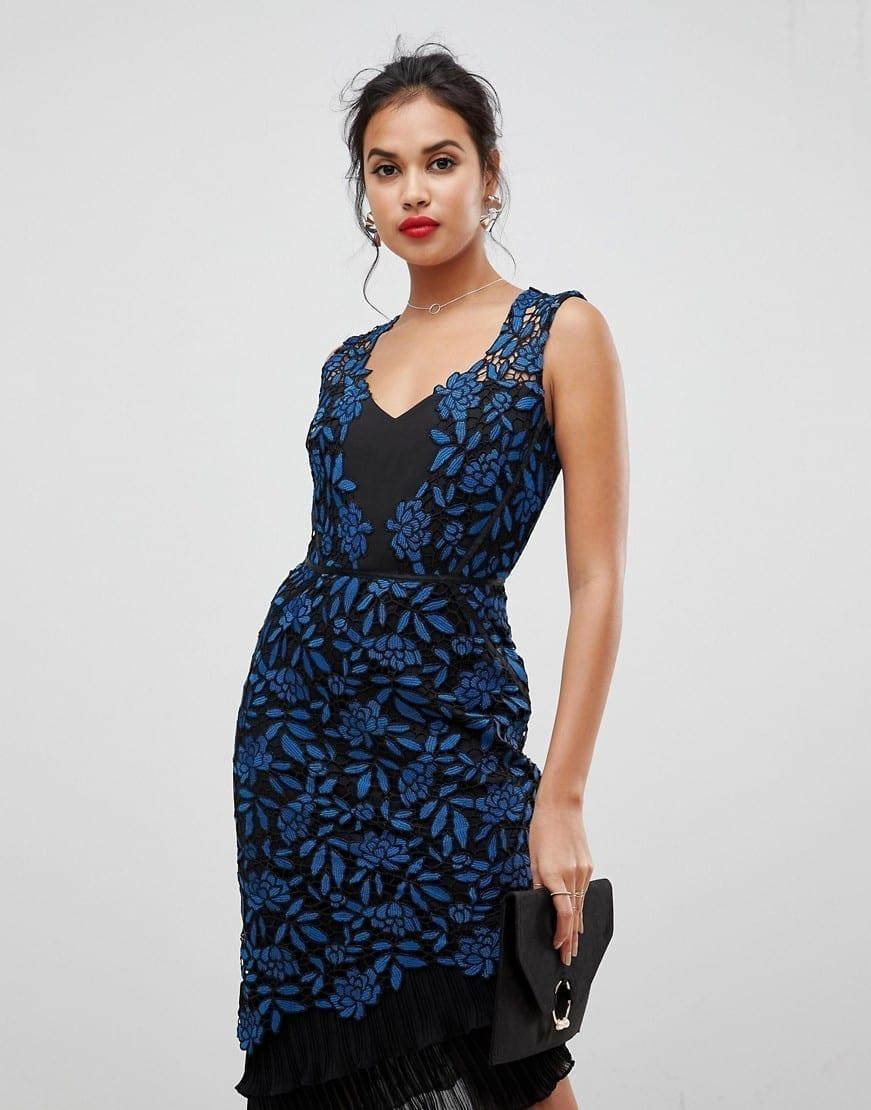 f886cf0cc10 Lipsy Floral Print Pleated Bodycon Dress - Gomes Weine AG
