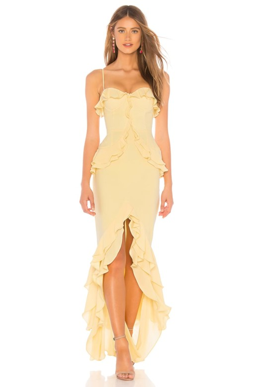 LOVERS + FRIENDS Melissa Yellow Gown