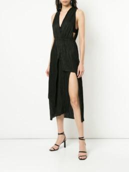 MANNING CARTELL Vertical Impact Halter Black Dress