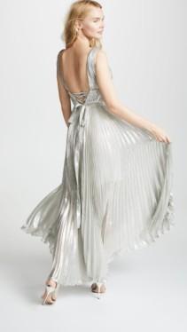 MARIA LUCIA HOHAN Riley Silver Dress 2