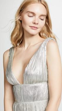 MARIA LUCIA HOHAN Riley Silver Dress 5