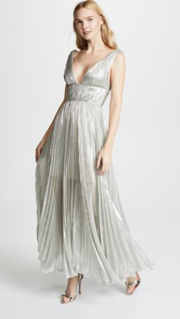 MARIA LUCIA HOHAN Riley Silver Dress