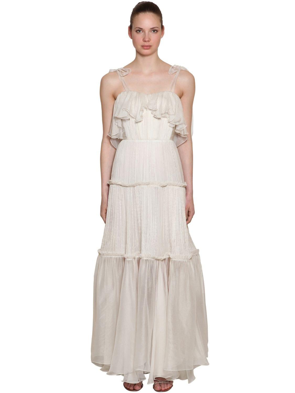 MARIA LUCIA HOHAN Silk Long White Dress