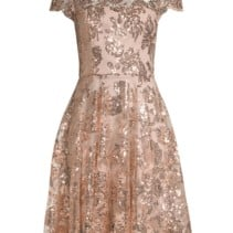 d2aa52a7b2b MILLY Sequin Embroidered Cocktail Rose Gold Dress - We Select Dresses