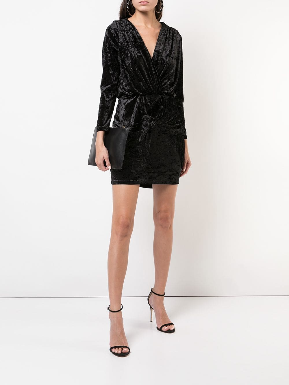 MISA LOS ANGELES Velvet Mini Black Dress