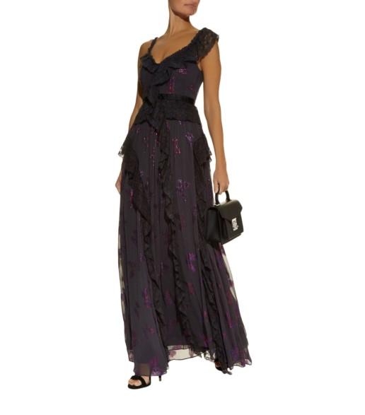 NEEDLE & THREAD Interstellar Black Gown