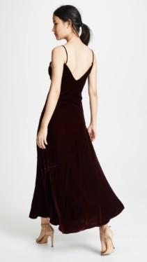 NICHOLAS Velvet Slip Burgundy Dress 2