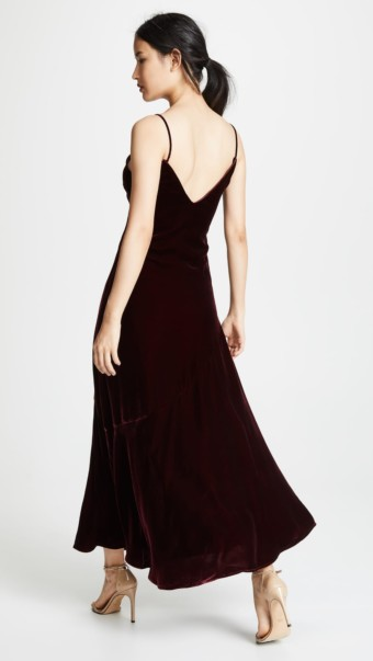 NICHOLAS Velvet Slip Burgundy Dress 2