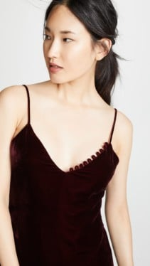 NICHOLAS Velvet Slip Burgundy Dress 5