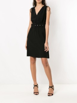 NK COLLECTION Short Sleeveless Black Dress