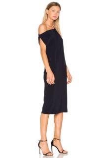 NORMA KAMALI Drop Shoulder Black Dress 2