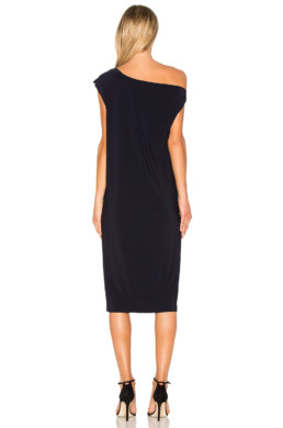 NORMA KAMALI Drop Shoulder Black Dress 3