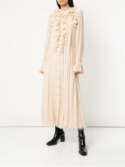 PHILOSOPHY DI LORENZO SERAFINI Ruffle Trim Shirt Ash Pink Dress