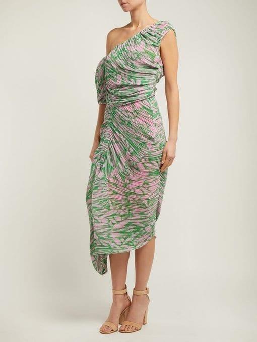PREEN BY THORNTON BREGAZZI Jane Printed Georgette Pink Dress 2