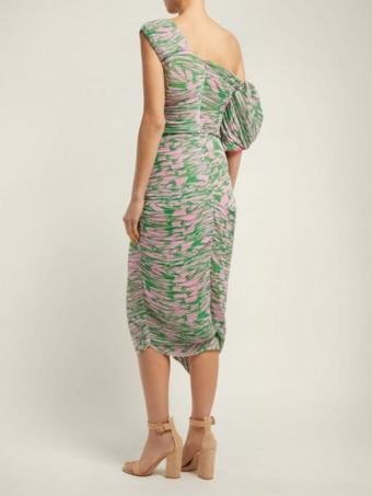 PREEN BY THORNTON BREGAZZI Jane Printed Georgette Pink Dress 3