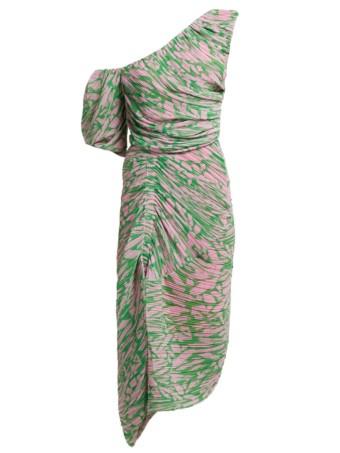 PREEN BY THORNTON BREGAZZI Jane Printed Georgette Pink Dress 4