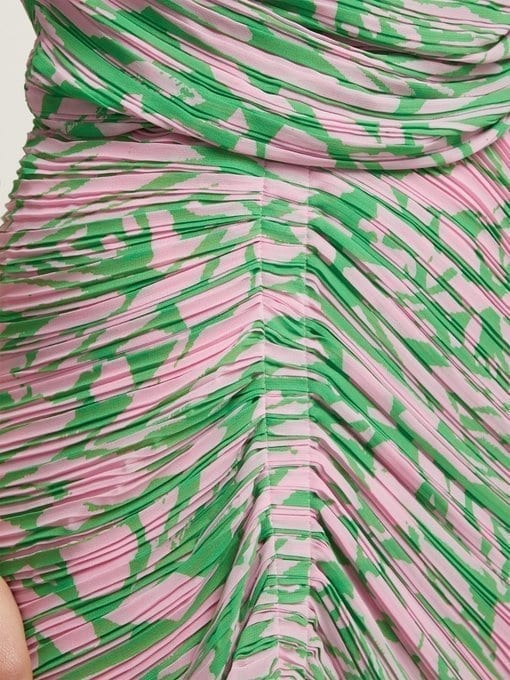 PREEN BY THORNTON BREGAZZI Jane Printed Georgette Pink Dress 5