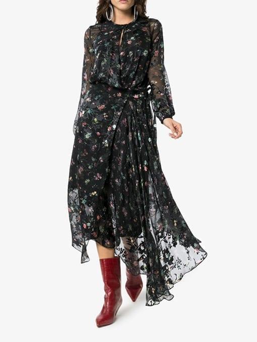 PREEN-BY-THORNTON-BREGAZZI-Olga-Floral-Embellished-Black-Dress