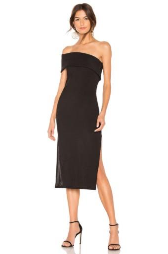 PRIVACY PLEASE Gianna Midi Black Dress