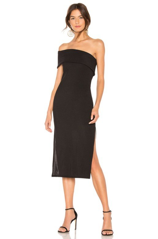 PRIVACY PLEASE Gianna Midi Black Dress